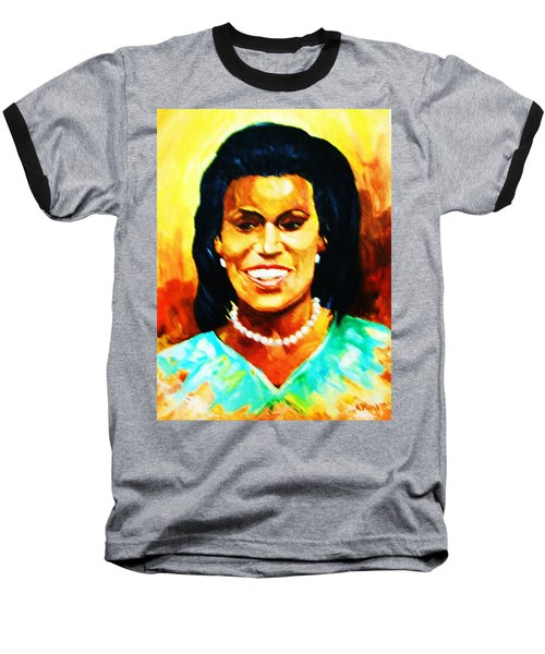 Michelle Obama Baseball T-Shirt by Al Brown