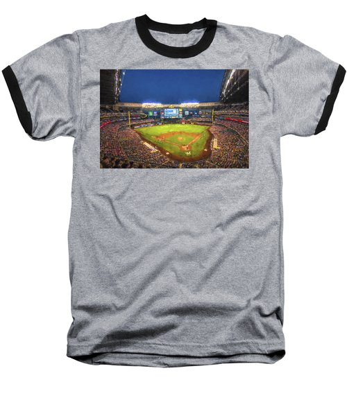 Milwaukee Brewers Miller Park Painted Digitally Baseball T-Shirt