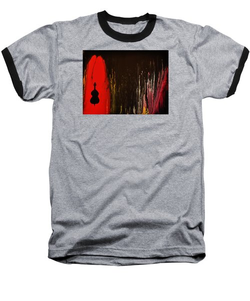 Baseball T-Shirt featuring the painting Mingus by Michael Cross