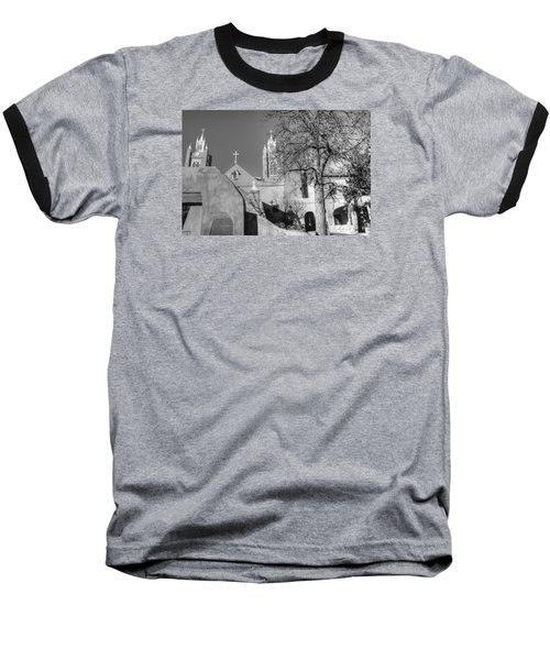 Mission In Black And White Baseball T-Shirt