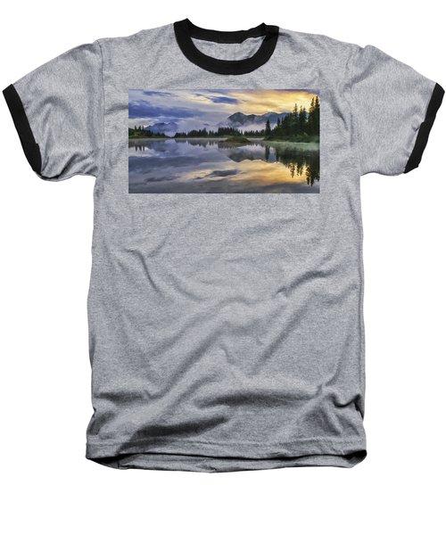 Molas Lake Sunrise Baseball T-Shirt by Priscilla Burgers