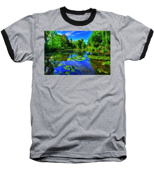 Monet's Lily Pond Baseball T-Shirt