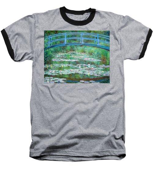 Baseball T-Shirt featuring the photograph Monet's The Japanese Footbridge by Cora Wandel