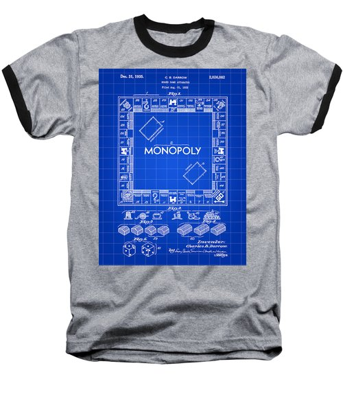 Monopoly Patent 1935 - Blue Baseball T-Shirt