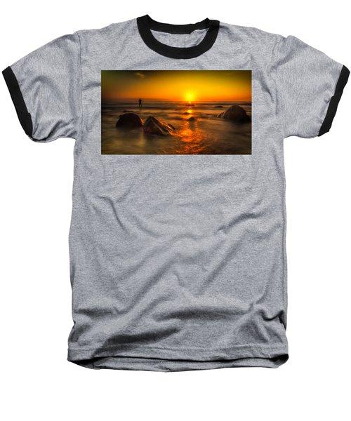 Montauk New York Summer Sunrise Baseball T-Shirt