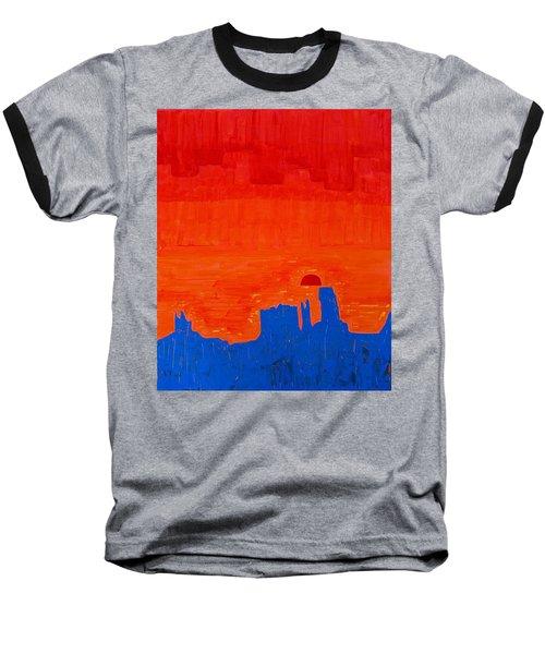 Monument Valley Original Painting Baseball T-Shirt