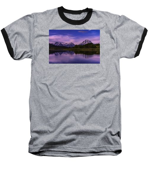 Moonlight Bend Baseball T-Shirt by Chad Dutson