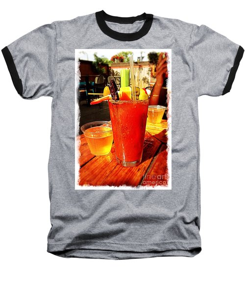 Morning Bloody Baseball T-Shirt by Perry Webster
