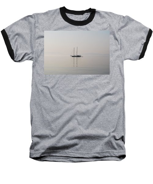 Baseball T-Shirt featuring the photograph Morning Mist by George Katechis