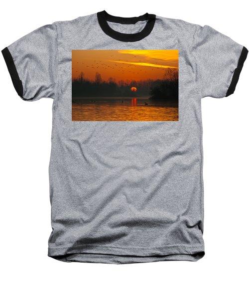 Morning Over River Baseball T-Shirt