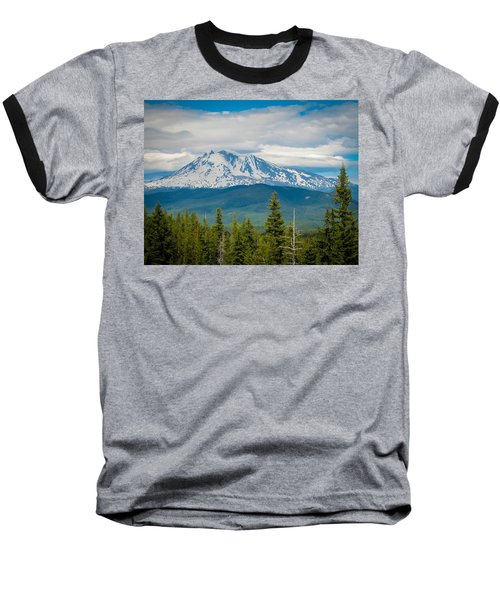 Mt. Adams From Indian Heaven Wilderness Baseball T-Shirt