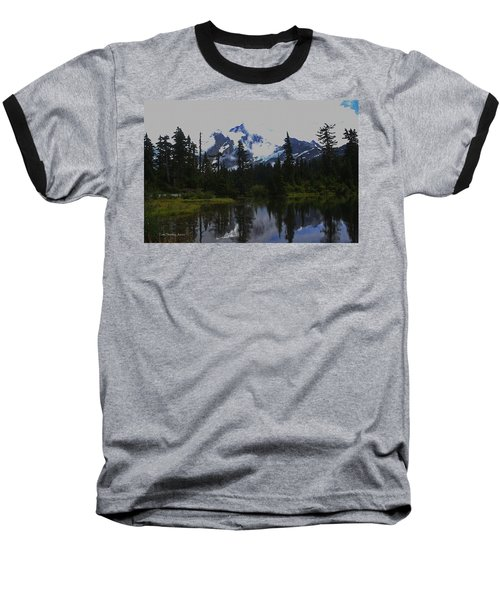 Mt Baker Washington  Baseball T-Shirt by Tom Janca