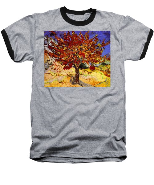 Mulberry Tree Baseball T-Shirt by Vincent Van Gogh