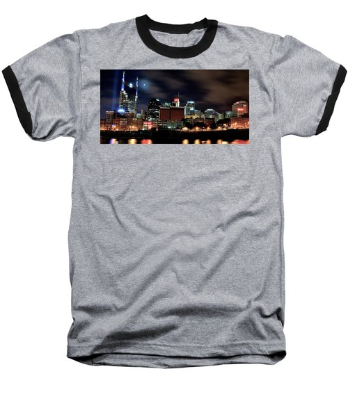 Nashville Panoramic View Baseball T-Shirt by Frozen in Time Fine Art Photography