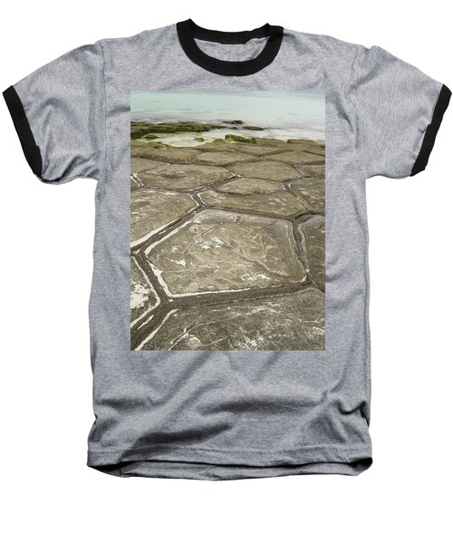 Natural Forming Pentagon Rock Formations Of Kumejima Okinawa Japan Baseball T-Shirt by Jeff at JSJ Photography