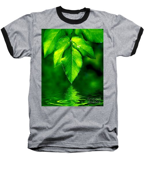 Natural Leaves Background Baseball T-Shirt