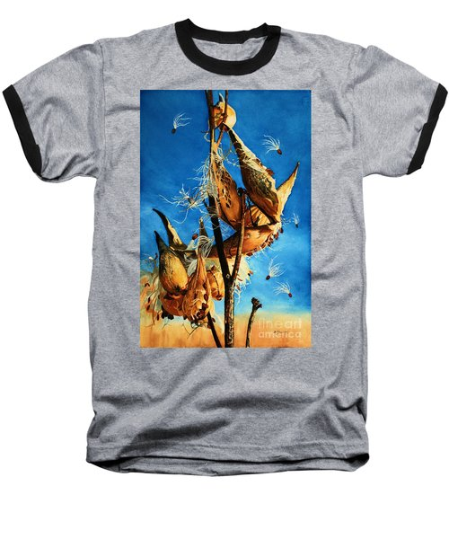 Nature's Launch Pad Baseball T-Shirt by Barbara Jewell