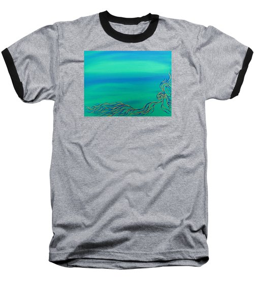 Baseball T-Shirt featuring the painting Nerissa by Robert Nickologianis