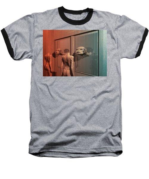 Baseball T-Shirt featuring the digital art New Faces by John Alexander