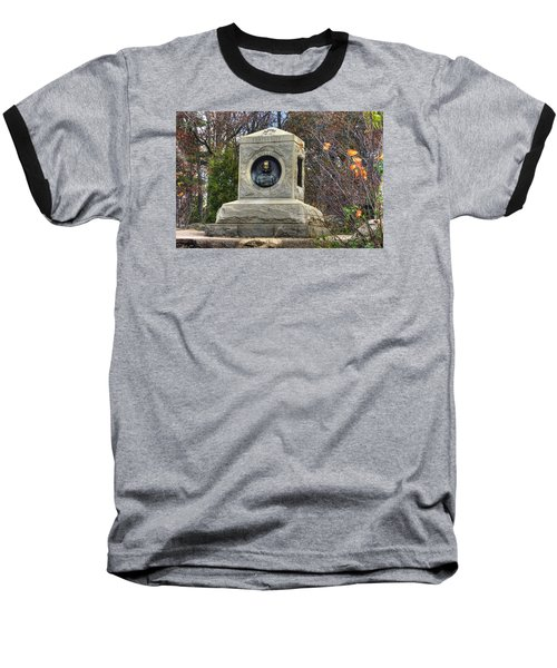 New York At Gettysburg - 140th Ny Volunteer Infantry Little Round Top Colonel Patrick O' Rorke Baseball T-Shirt