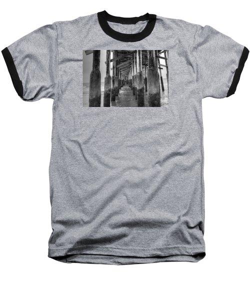 Newport Beach Pier Baseball T-Shirt