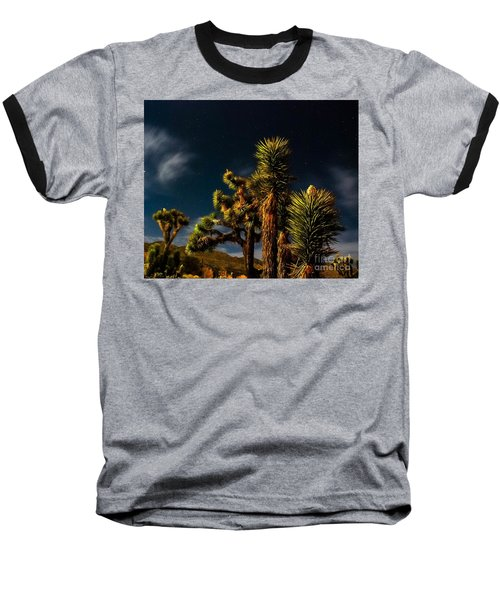 Baseball T-Shirt featuring the photograph Night Desert by Angela J Wright
