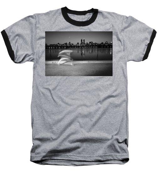 Night Jogger Central Park Baseball T-Shirt