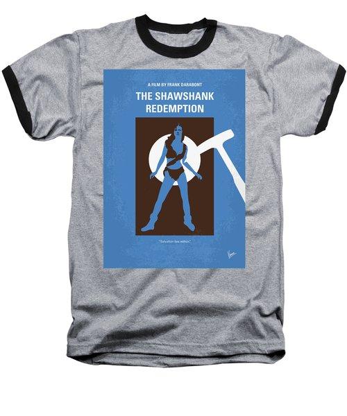 No246 My The Shawshank Redemption Minimal Movie Poster Baseball T-Shirt
