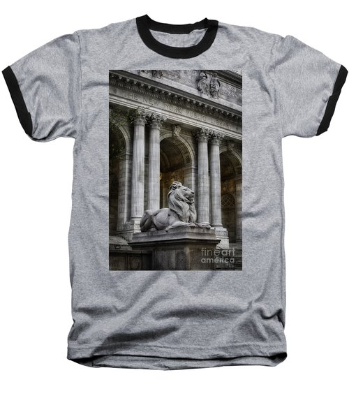 Ny Library Lion Baseball T-Shirt