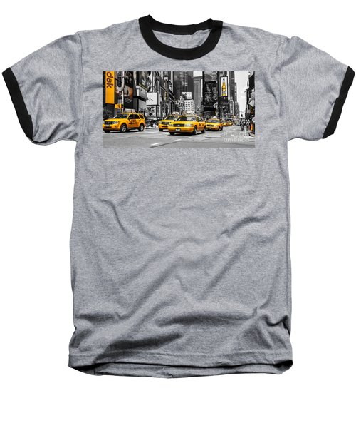 Nyc Yellow Cabs - Ck Baseball T-Shirt