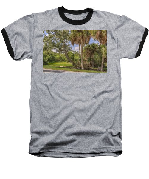 Baseball T-Shirt featuring the photograph Oak Trees by Jane Luxton