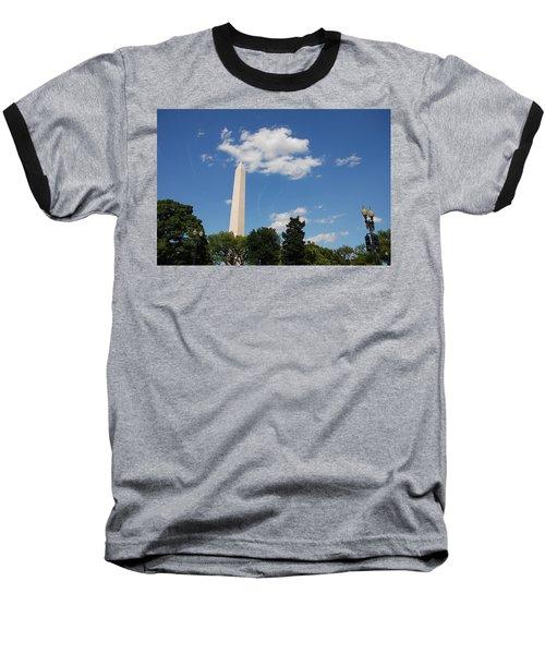 Obelisk Rises Into The Clouds Baseball T-Shirt
