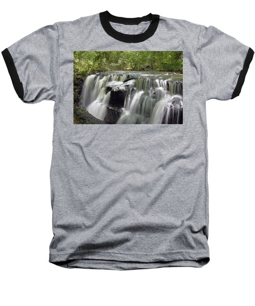 Odom Creek Waterfall Georgia Baseball T-Shirt by Charles Beeler