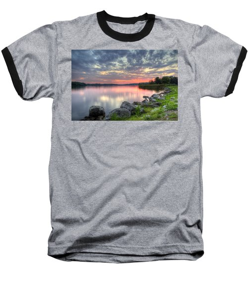 Ohio Lake Sunset Baseball T-Shirt