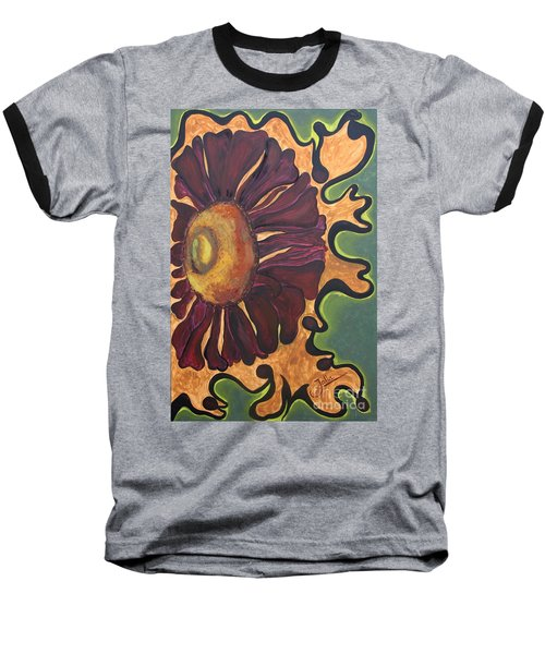 Old Fashion Flower Baseball T-Shirt