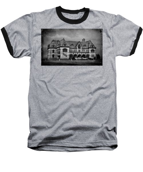 Old Post Office - Customs House B/w Baseball T-Shirt by Sandy Keeton