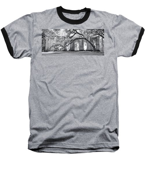Old Sheldon Church - Side View Baseball T-Shirt by Scott Hansen