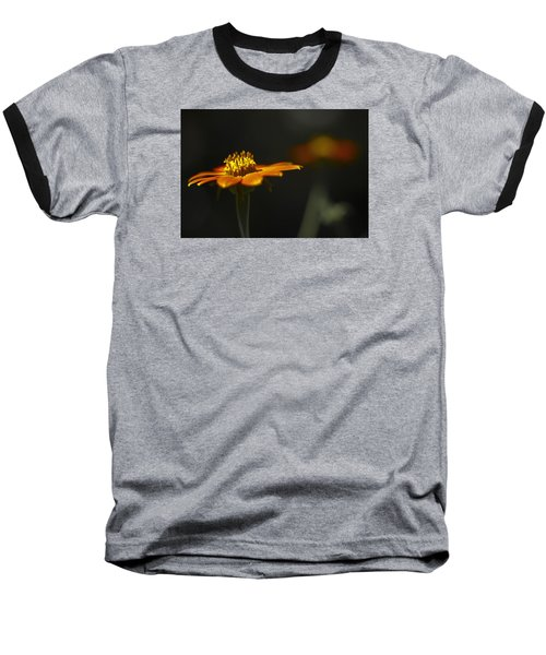 Orange Flower Baseball T-Shirt