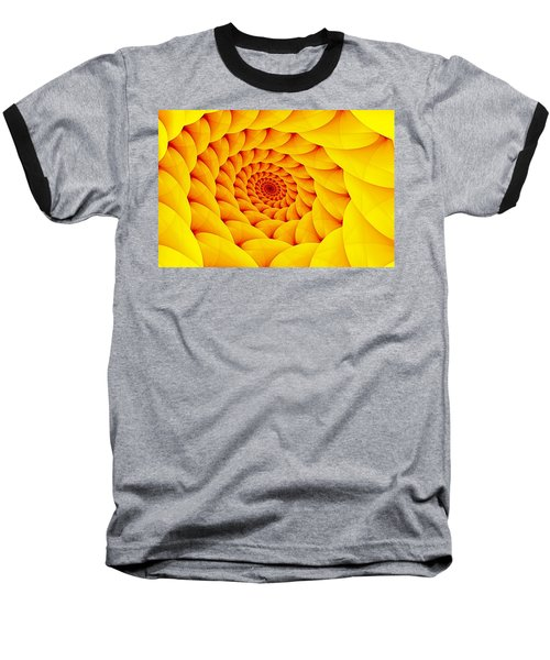 Yellow Pillow Vortex Baseball T-Shirt