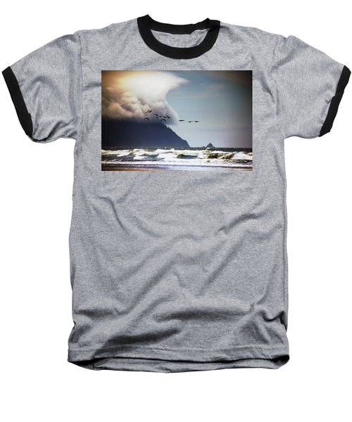 Ocean Baseball T-Shirt featuring the photograph Oregon Coast  by Aaron Berg