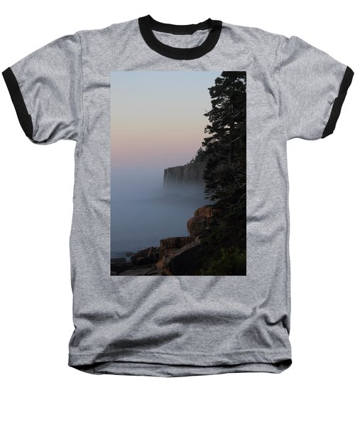 Otter Cliffs 2 Baseball T-Shirt