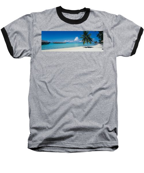 Palm Tree On The Beach, Moana Beach Baseball T-Shirt