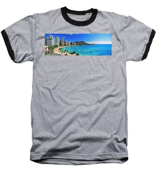 Palm Trees On The Beach, Diamond Head Baseball T-Shirt