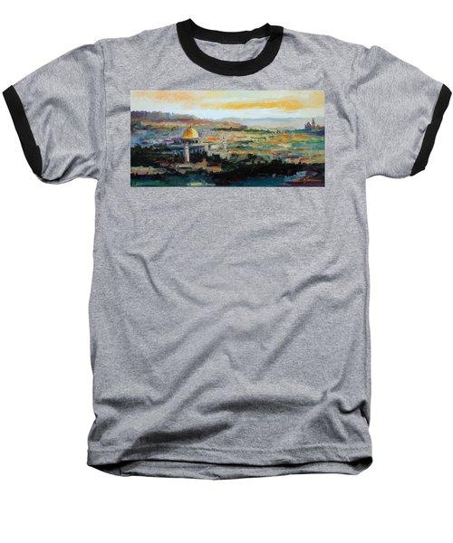Panorama Of Jerusalem Baseball T-Shirt