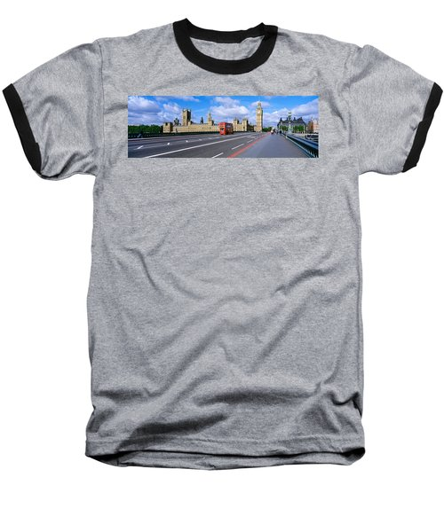 Parliament Big Ben London England Baseball T-Shirt by Panoramic Images