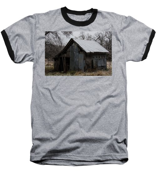 Patchwork Barn With Icicles Baseball T-Shirt