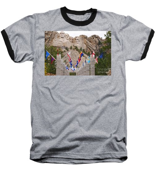 Baseball T-Shirt featuring the photograph Patriotic Faces by Mary Carol Story