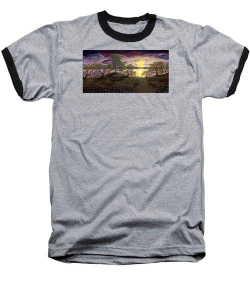 Peaceful Sunset Baseball T-Shirt