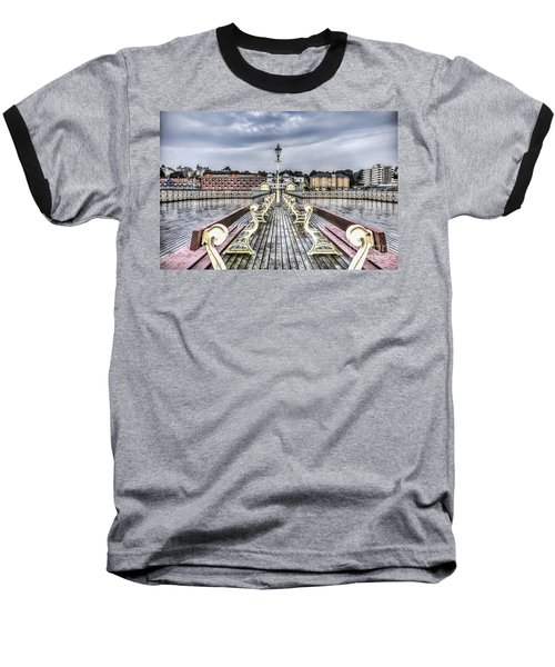 Penarth Pier 5 Baseball T-Shirt by Steve Purnell