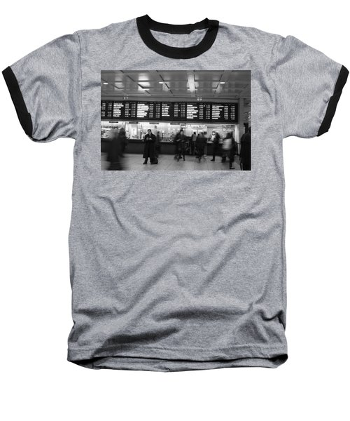 Baseball T-Shirt featuring the photograph Penn Station by Steven Macanka